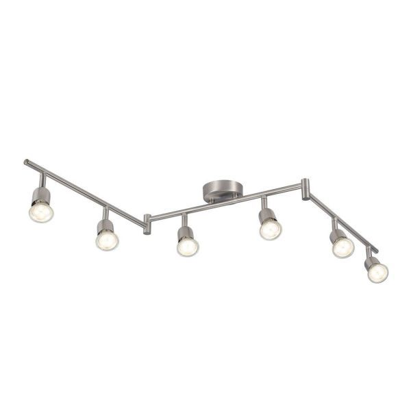 Srebrna lampa sufitowa Avenue - Nordlux - regulowane reflektory