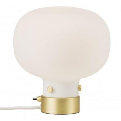 mleczna lampa stołowa do sypialni