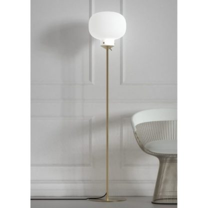 nowoczesna lampa podłogowa szklany klosz