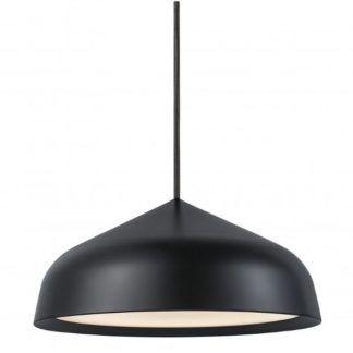Czarna lampa wisząca Fura - Nordlux DFTP - duży klosz