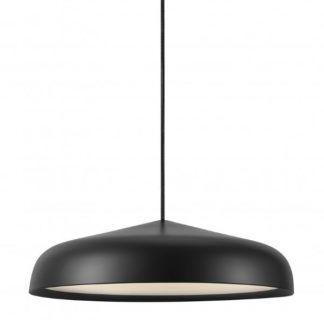 Lampa Fura - wisząca nowoczesna  nad stół - czarny klosz, LED