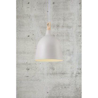 biała lampa skandynawska do kuchni