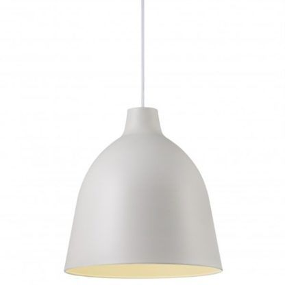 biała lampa wisząca metalowa