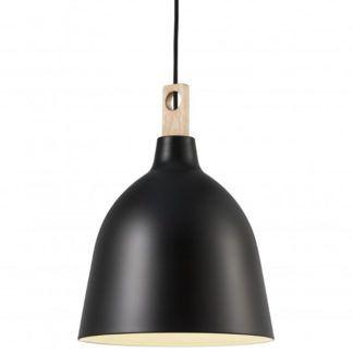 Czarna lampa wisząca Moku - Nordlux DFTP - skandynawska
