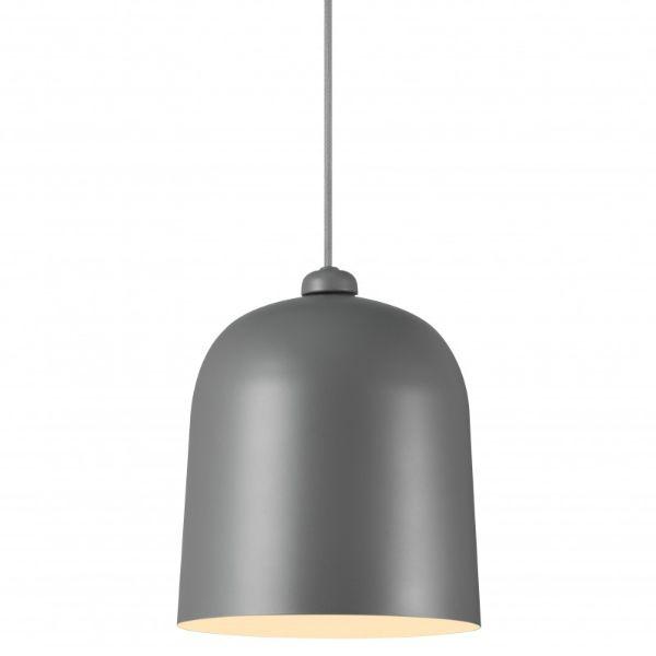 metalowa lampa wisząca głęboki klosz