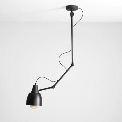 lampa sufitowa stalowa czarna