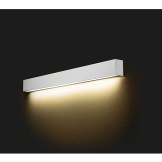 Biały kinkiet Straight M - świetlówka