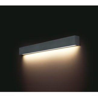 Nowoczesny kinkiet Straight M - szary, na świetlówkę