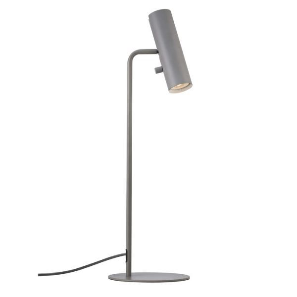 szara lampa biurkowa