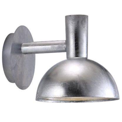 srebrny kinkiet zewnętrzny