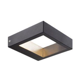 Designerski kinkiet Avon - Nordlux - czarny, LED, IP44
