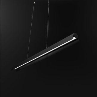 Nowoczesna lampa wisząca A LED - czarny klosz