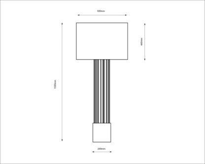 Lampa podłogowa IHI, czarna podstawa, złoty abażur