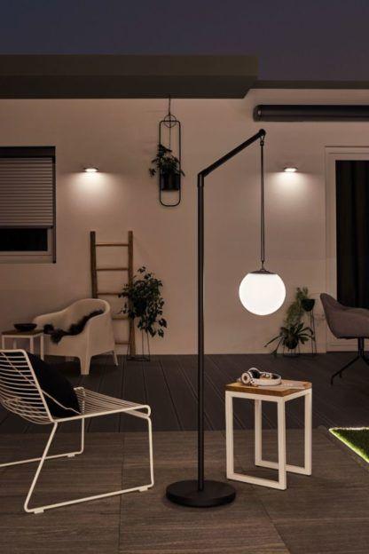 nowoczesna lampa tarasowa usb