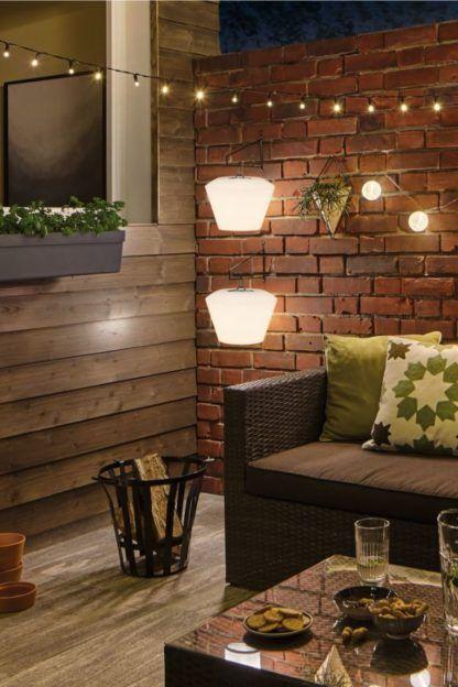 nowoczesne oświetlenie tarasu