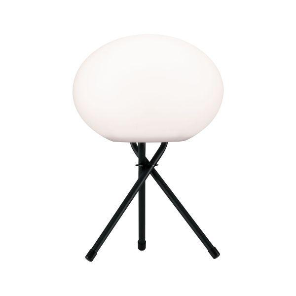 Zewnętrzna lampa stołowa Trivet - owalny klosz, IP44