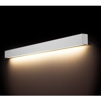 Długi kinkiet Straight L - biały, LED