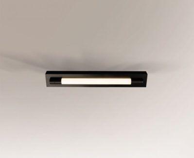 Cienka lampa sufitowa Aichi - czarna, mała IP44
