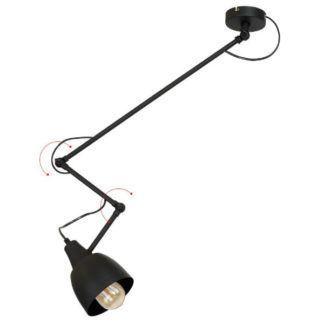 Czarna lampa wisząca Arrow - industrialna