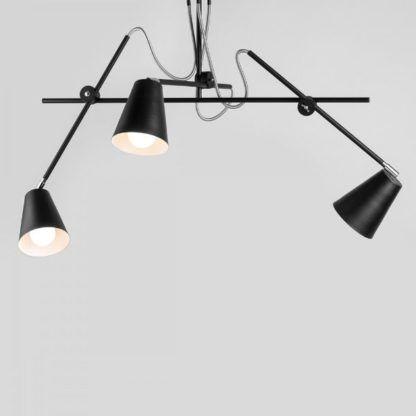 czarna lampa wisząca nowoczesna