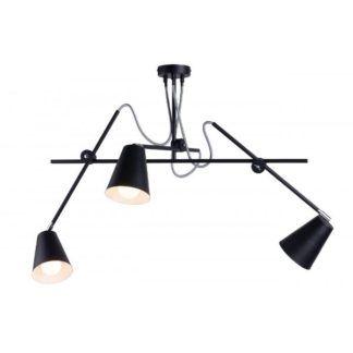 Czarny żyrandol Arte - nowoczesny, metalowy