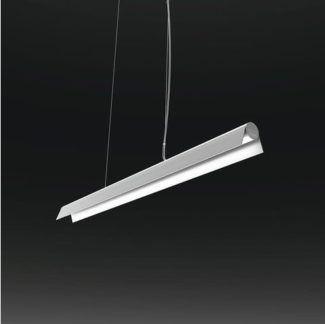 Biała lampa wisząca A LED - podłużny klosz