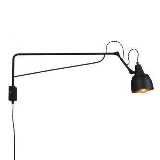 Czarna lampa ścienna Soho - regulowane ramię