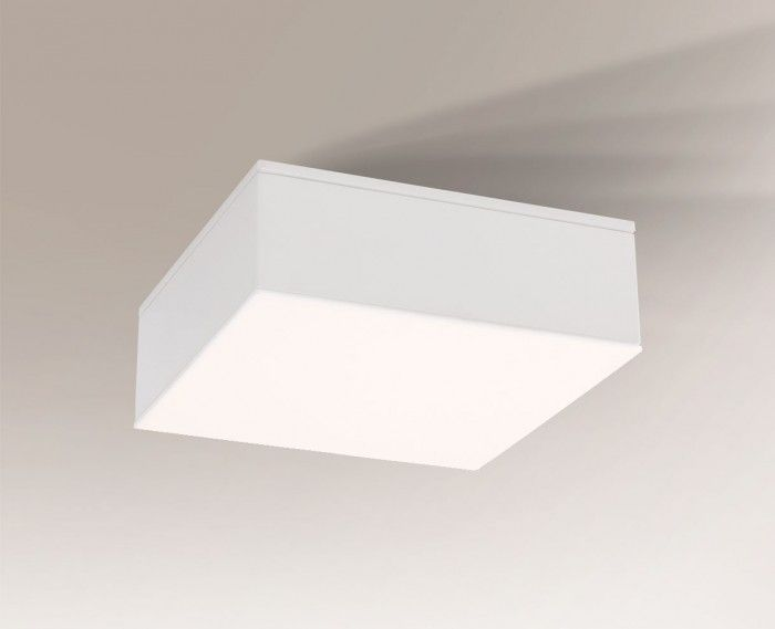 Nowoczesny cienki plafon Tottori IL - biały