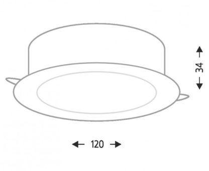 Nowoczesne oczko podtynkowe Tottori LED - szare