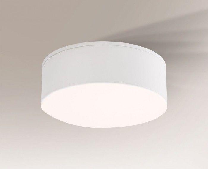 Nowoczesny cienki okrągły plafon Tottori IL - biały