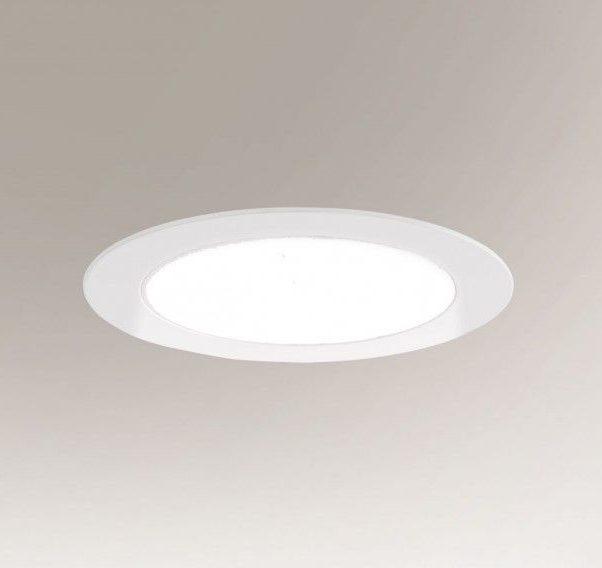 Nowoczesne oczko podtynkowe Tottori LED - białe