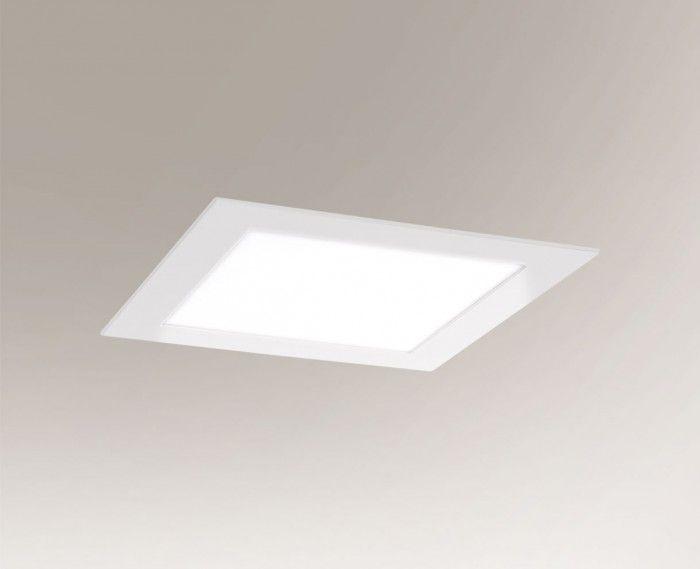 Kwadratowe oczko podtynkowe Tottori LED - białe