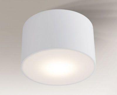 Okrągły biały plafon Zama - średni