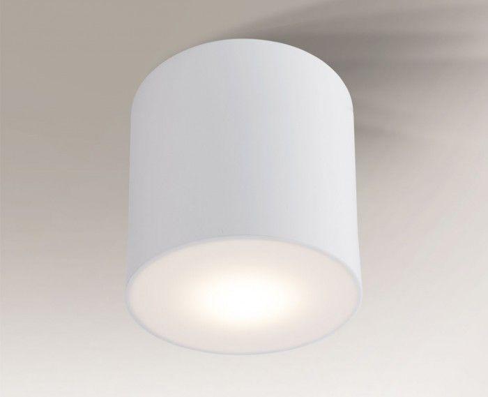biały mały plafon z osłonką