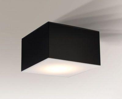 Czarny minimalistyczny plafon Zama - średni