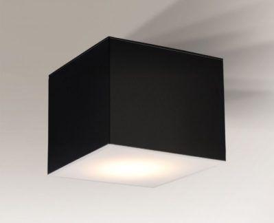 Kwadratowy prosty czarny plafon Zama - duży