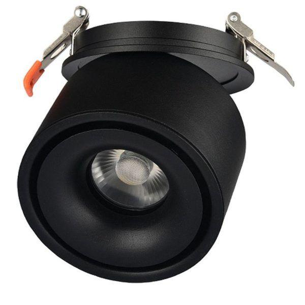 czarny obrotowy okrągły reflektor