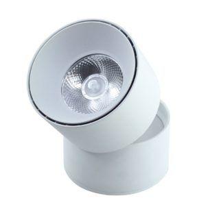 Obrotowa tuba natynkowa Creston II - biały, LED