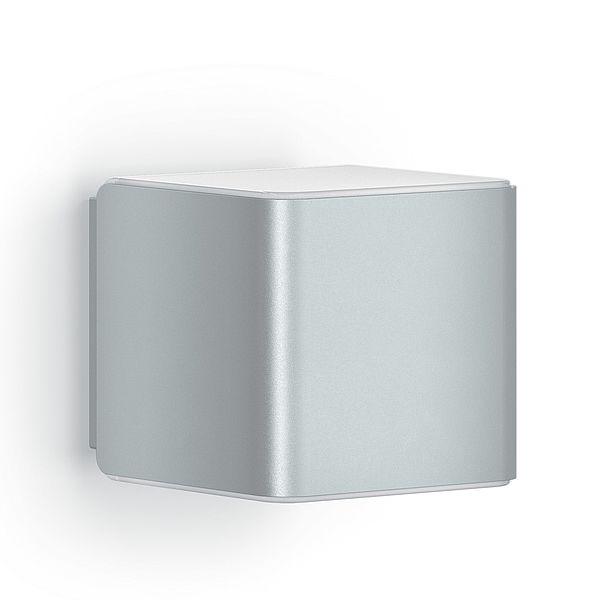 srebrny kinkiet ledowy kwadratowy