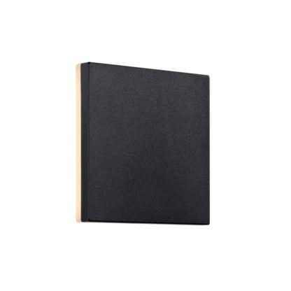 kwadratowy kinkiet zewnętrzny czarny