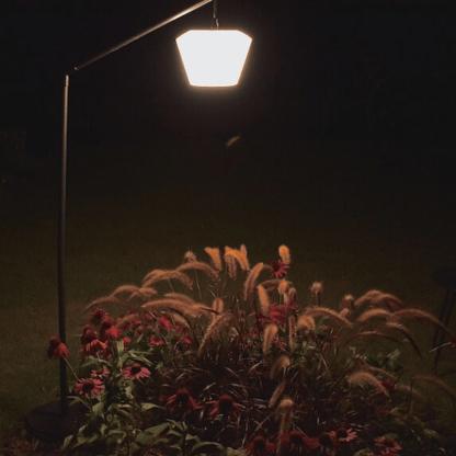 lampa do oświetlenia traw i kwiatów