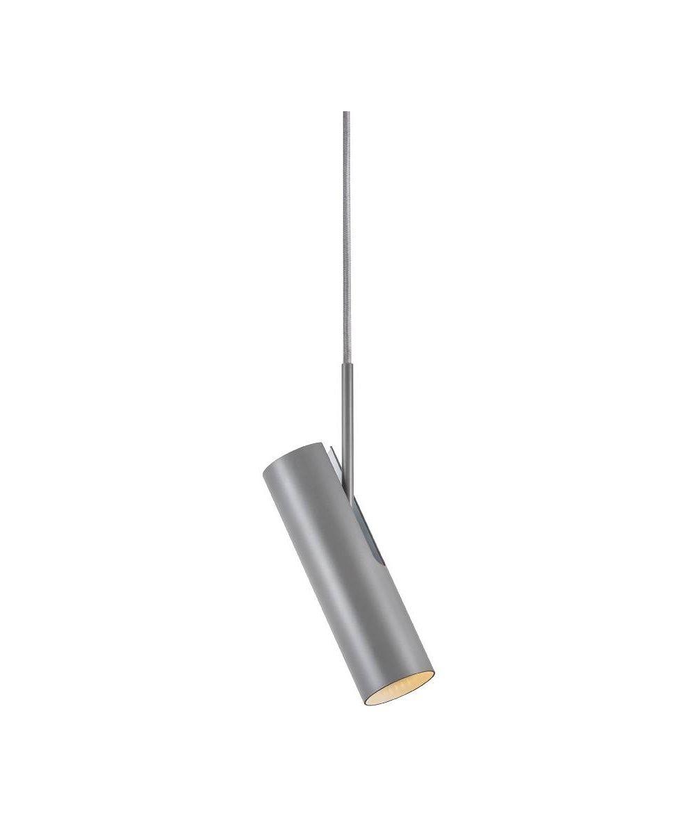 Szara lampa wisząca MIB - Nordlux DFTP - wąski klosz