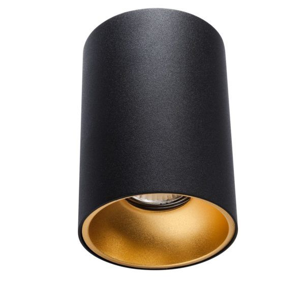 czarna tuba ze złotym środkiem