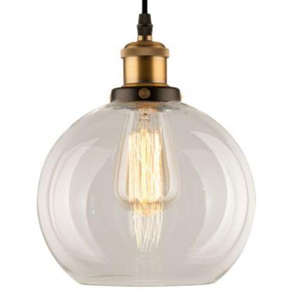lampa wisząca szklana industrial