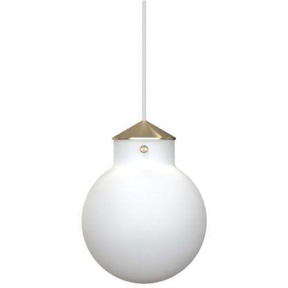 nowoczesna lampa wisząca białe szkło