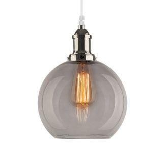 Stylowa lampa wisząca New York Loft No.2 - dymione szkło