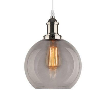 lampa wisząca szklana antracyt
