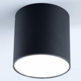 Nowoczesny plafon Tuba Polo - czarny
