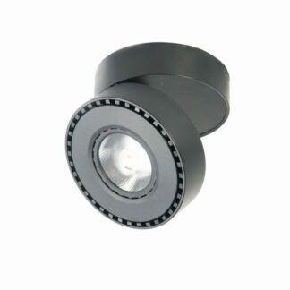 Obrotowy downlight sufitowy Preston - czarny, LED