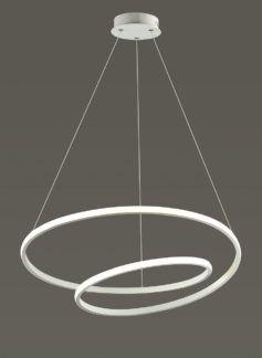 Nowoczesna lampa wisząca Rosso - biała spirala, LED